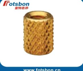 Ochoos STKB-M4-10 Thru-Threaded Molded-in Insert Kunrled Brass,Nature,PEM standrad,
