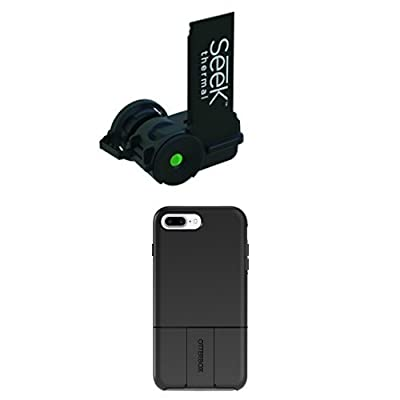 Seek LT-AAO Compact 20° Thermal Imager for Otterbox uniVERSE case system, Black and Module/Swappable Case for iPhone 8 Plus & iPhone 7 Plus (ONLY) - Retail Packaging - BLACK