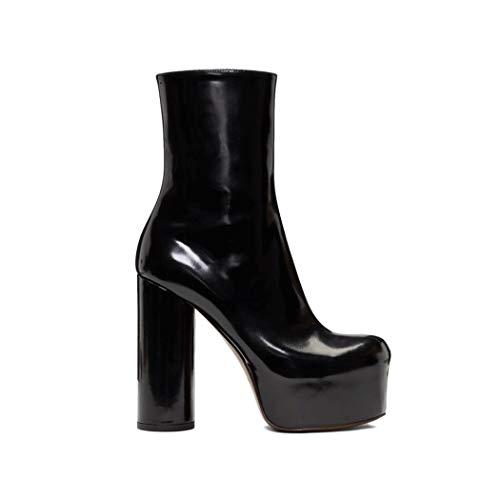 52943a7bf1 ... Wetkiss Plataforma Tacón Mujer Zapatos Para Grueso 2018 Botas De Mujer  Piel Tobillera Auténtica OOPrgp ...