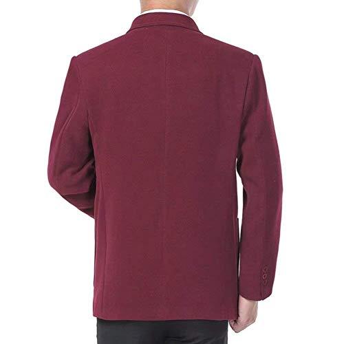 Uomo Slim Giacche Casual Da Fit 1 Business Basic Fashion Leisure Giovane Saoye Maniche Suit Blazer Autunno Lunghe Knop Risvolto Winered A xYItqE7