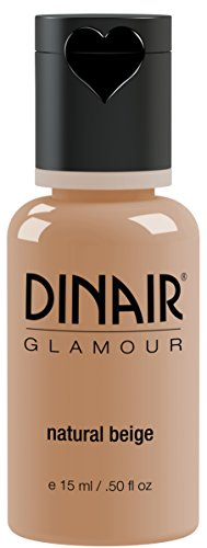 Dinair Airbrush Makeup Foundation | Natural Beige | GLAMOUR: Natural, Light coverage, Matte 0.50 oz.
