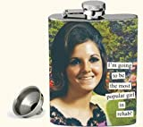 Anne Taintor 58465 Flask, I'm Going to be The Most Popular Girl in Rehab!