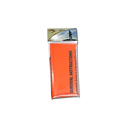 31emRKzr0qL. SS500  - BCB CL044 Emergency Hi-Vis Heavy Duty Polythene Printed Survival Sleeping Bivi Bag