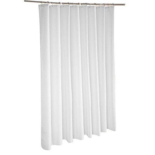 VDOMUS Waffle Weave Cotton Shower Curtain Liner Mildew-Free Resistant White, 70x 70 Long