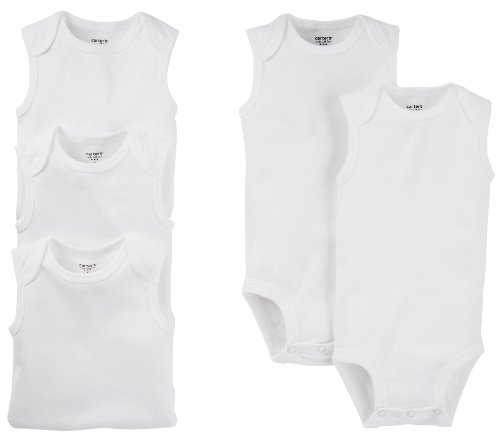 Carter's 5-Pack S/L Bodysuits - White- 6 Months ()