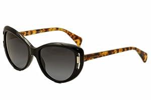 Alexander McQueen Women's AMQ4238/S Black/Grey Gradient Sunglasses