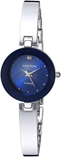 Armitron Women's 75/5646BLSV Diamond-Accented Silver-Tone Bangle ()