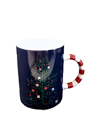 Holiday Tree Collection (Starbucks 2018 Holiday Collection 12oz Blue Tree Candy Cane Mug)