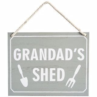 Para el abuelo cobertizo de madera señal para colgar/con texto en inglés /decorativo