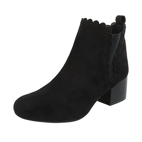 Ital-Design WoMen Slouch Boots Black