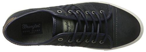 Wrangler Herren Sunset Stripes Low-Top Blau (Navy)