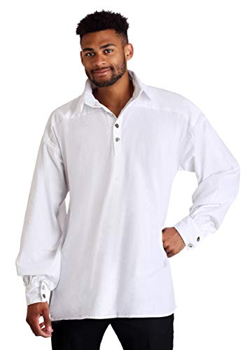 Fun Costumes Men's White Renaissance Fair Shirt X-Large -