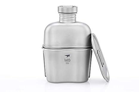 Keith titanio ejército Militar botella de agua Copa Pot ...