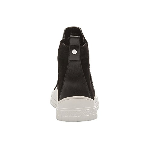 Linea Paolo Gage Stivali Da Donna - Stivaletto Sneaker High-top In Pelle Nero