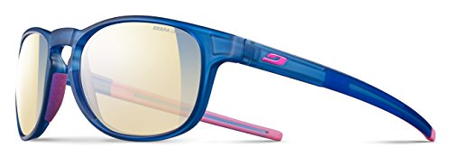 Julbo Resist Sunglasses - Zebra Light Red - Translucent Blue/Pink