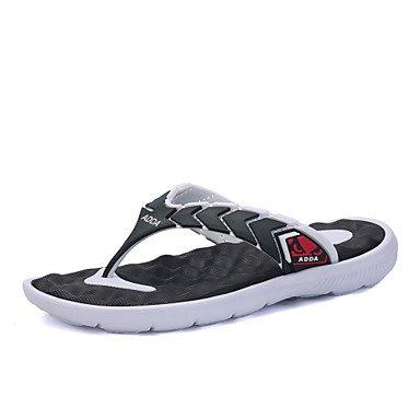Sandalias de verano zapatos de hombre Casual / Exterior / sintética polipiel zapatillas negro / azul / amarillo / verde Negro