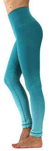 Prolific Health High Compression Women Gym Pants Yoga Fitness Leggings Capri (Small, Ombre Aqua)