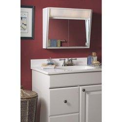 Jensen Medicine Cabinet Flair 28W x 19.5H in. Surface Mount Medicine Cabinet 327LP