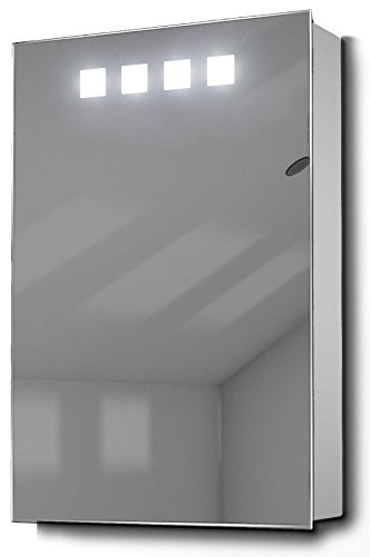 DIAMOND X COLLECTION Nova LED Illuminated Bathroom Mirror Cabinet with Sensor & -