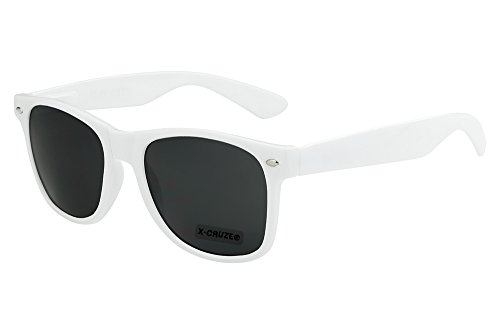 X 8 sol mujer nerd nerd hombre 004 de vintage Gafas retro blanco unisex gafas CRUZE® rA5Hgqwr
