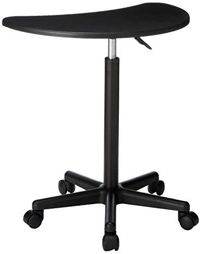 Flash Furniture Height Adjustable Mobile Laptop Computer Desk with Black Top