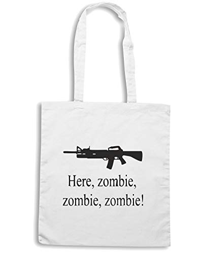 Shopper Speed Bianca Shirt ZOMBIE TZOM0005 HERE Borsa fzqRZzE