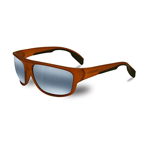 Vuarnet VL140200180636 Racing Sunglasses Transparent Amber Blue Polarlynx Polarized Glass - Vuarnet Nylon Sunglasses