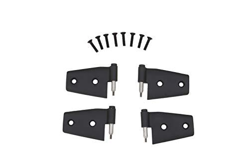 Rampage Products 87641 Black Door Hinge, 4 Piece for 2007-2018 Jeep Wrangler JK ()