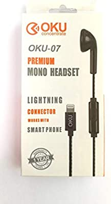 iPhone mono headset with lighting connector (single ear