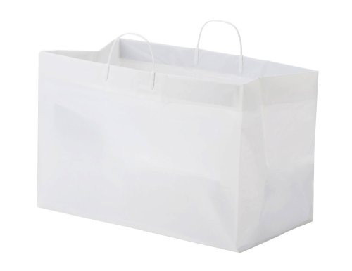 Glopack SCSLWTQD Bag for Side by Side Containers with Rigid Handle, 12'' Length x 19'' Width (Case of 200) by Glopack