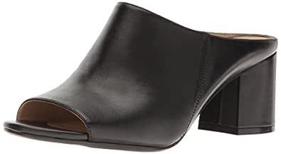 Naturalizer Women's Low Heel Leather Mule Cyprine, Black, 6