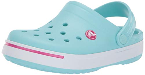 Crocs Kids Unisex Crocband II (Toddler/Little Kid) Ice Blue/Candy Pink 3 M US Little Kid