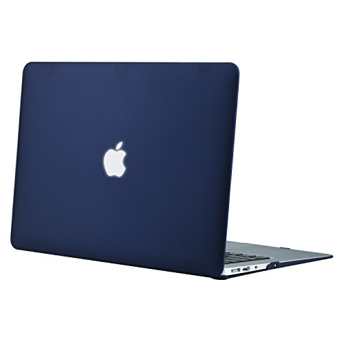 Price comparison product image Mosiso Plastic Hard Case Cover for MacBook Air 13 Inch (Models: A1369 and A1466),  Navy Blue