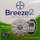 Bayer Breeze 2 100ct Test Strips (10 Discs)