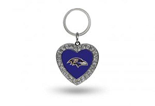 (NFL Baltimore Ravens Rhinestone Heart Keychain)