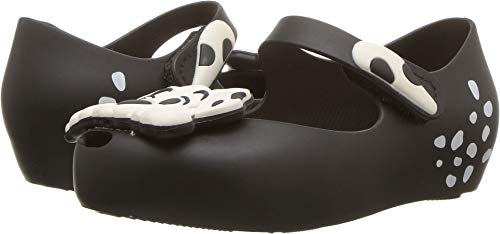 Mini Melissa Girls' Mini Ultragirl + 101 Dalmations Mary Jane Flat Black/White 5 Medium US Toddler