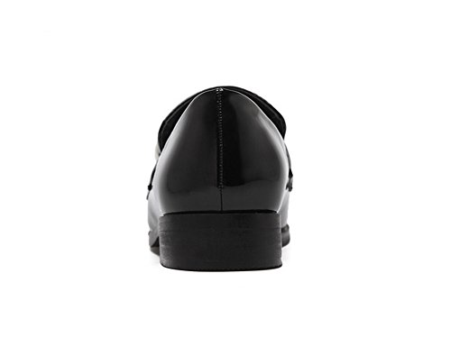Inconnu 1To9 Sandales Compensées Femme Noir, 38.5 EU, MMSG00249