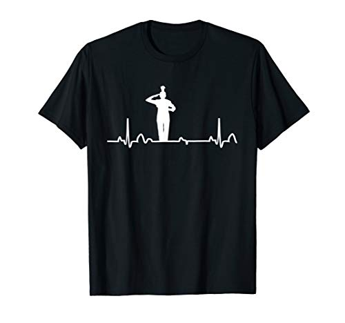 Drum Major Heartbeat Shirt Marching Band Apparel Tee