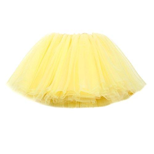 Fairylinks Little Girls Classic 5-Layered Tulle Tutu Skirt Princess Ballet Dance Dress Wedding (Dance Costumes Designer Online)