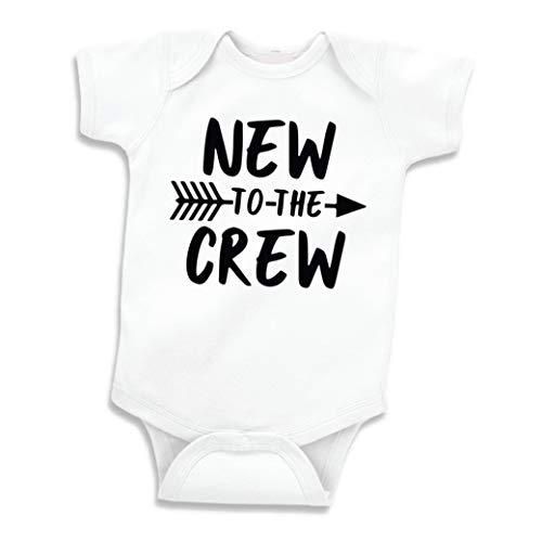 Bump and Beyond Designs New to The Crew Pregnancy Announcement Newborn Clothes (White 0-3 Months)