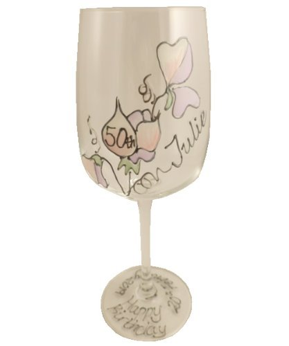 Personalizado 50 Cumpleaños Copa de vino (S/GUISANTE) MAX 25 ...