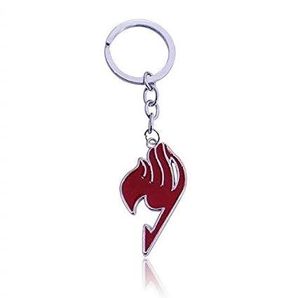 Amazon.com: Anime Keychain Fairy Tail Pendant Key Ring ...