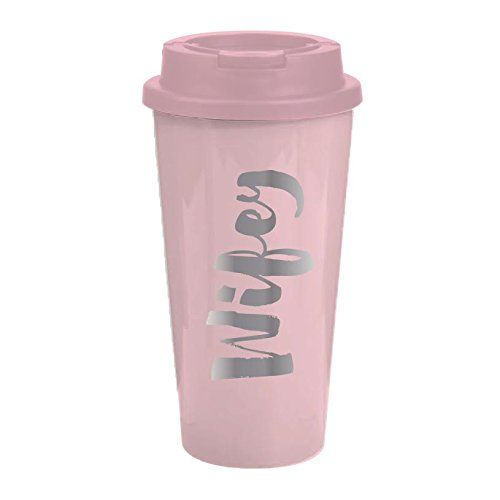 Travel Tumbler in Light Pink Wifey - 16oz