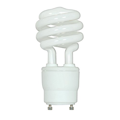 (Pack of 6) Satco S8229, 18W CFL T2/GU24/3500K/120V/1PK S8229 Twist Style Twist and Lock Base, Compact Fluorescent Light -