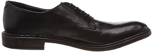 para Smooth de Preventi Nero Hombre Derby Smooth Zapatos Negro Cordones XWdBdc