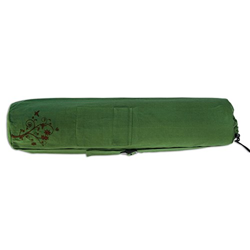 Willow Tote - Wai Lana Green Cotton Yoga Tote, Willow
