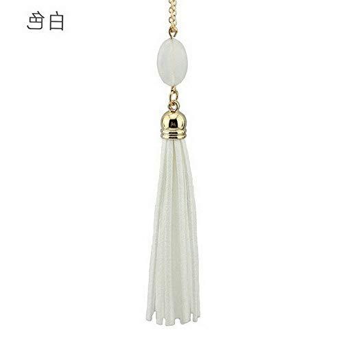 Hebel Womens Fashion Druzy Stone Enamel Feather Beads Long Tassel Pendent Necklace JT | Model NCKLCS - 34151 |