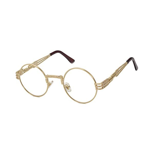 Pro Acme John Lennon Round Steampunk Sunglasses for Women Men Retro Metal Frame 2