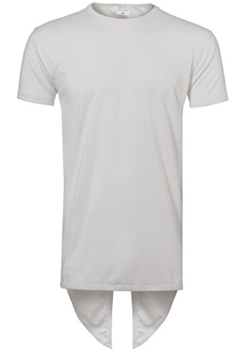 Mens Hipster Hip Hop Fishtail Long T-Shirts