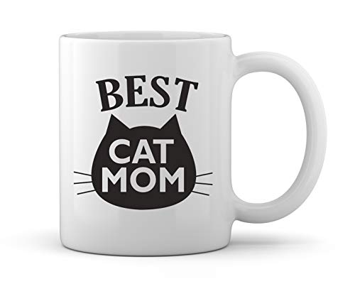 Funny Cat Gifts Best Cat Mom Ever Cat Memes for Catffeinated Feline Pet Owner Cats Lovers Purrrfect Christmas Mothers Day Novelty Gift Ceramic Coffee Mug Tea ()